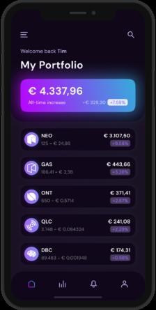 NEO Crypto Wallet App - Mockup - 1