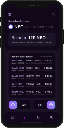 NEO Crypto Wallet App - Mockup - 3